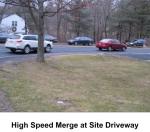 High-speed Merge onto Worthen Rd at Driveway