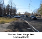 Worthen Road Merge from Driveway